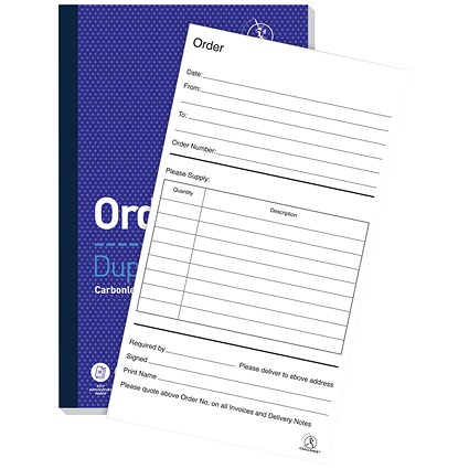 Challenge Carbonless Order Duplicate Book, 100 Sets, 210x130mm, Pack of 5
