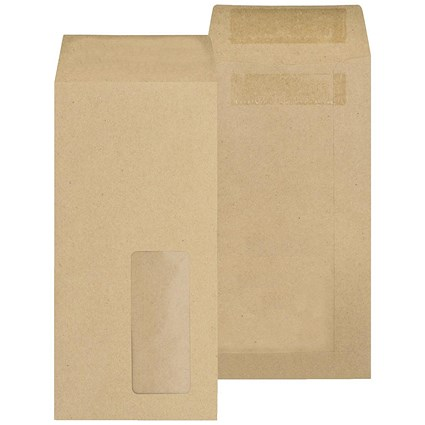 New Guardian DL Pocket Envelopes with Window, Manilla, Press Seal, 80gsm, Pack of 1000