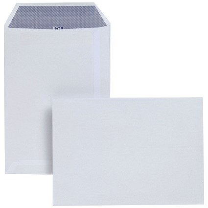 Plus Fabric C5 Pocket Envelopes, Press Seal, 120gsm, White, Pack of 500