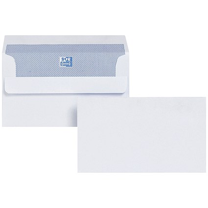 Plus Fabric Wallet Envelopes, 89x152mm, White, Press Seal, 120gsm, Pack of 500