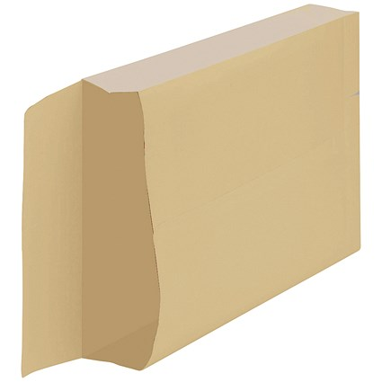 New Guardian Armour Gusset Envelopes, 380x280mm, 50mm Gusset, Peel & Seal, Manilla, Pack of 100