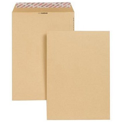 New Guardian Heavyweight C4 Pocket Envelopes, Manilla, Peel & Seal, 130gsm, Pack of 250