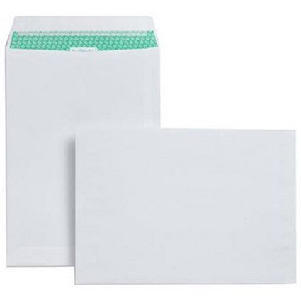 Basildon Bond Recycled C4 Pocket Envelopes, White, Peel & Seal, 120gsm, Pack of 250