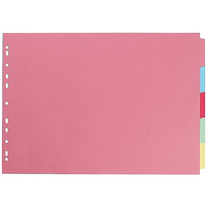 Concord Subject Dividers, Landscape, 5-Part, A3, Assorted