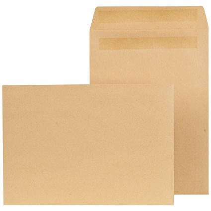 New Guardian C4 Pocket Envelopes / Manilla / Press Seal / 90gsm / Pack of 250