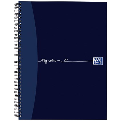 Oxford MyNotes Wirebound Notebook / A4 / 4 Holes / Ruled with Margin / 320 Pages / Pack of 3