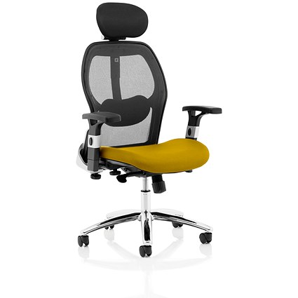 Sanderson 2 Operator Chair, Mesh Back, Senna Yellow