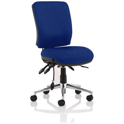 Chiro Medium Back Operator Chair - Stevia Blue