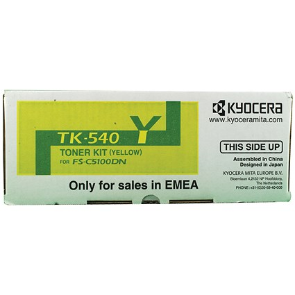 Kyocera TK-540Y Yellow Laser Toner Cartridge