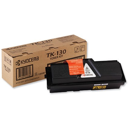 Kyocera TK-130 Black Laser Toner Cartridge