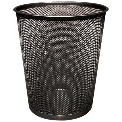 Q-Connect Waste Basket Mesh 18 Litre Black