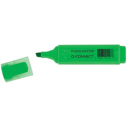 Q-Connect Green Highlighter Pen (Pack of 10)