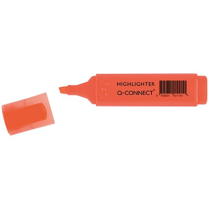 Q-Connect Orange Highlighter Pen (Pack of 10)