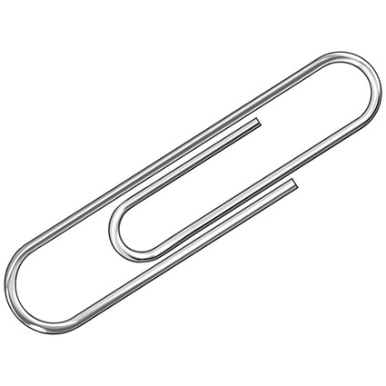 Q-Connect Paperclips Plain 32mm 100 Per Box (Pack of 10)