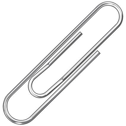 Q-Connect Paperclips Lipped 32mm (Pack of 1000) KF01317