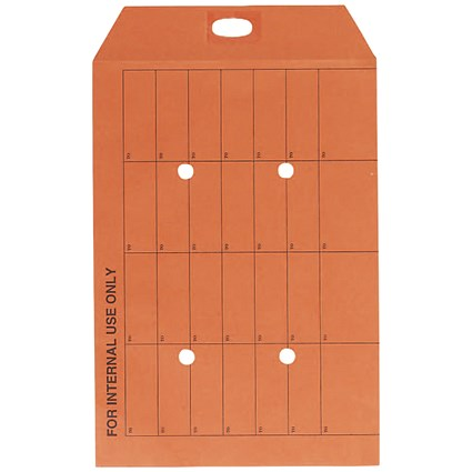 Q-Connect C4 Envelope Internal Mail Resealable 85gsm Orange (Pack of 250)