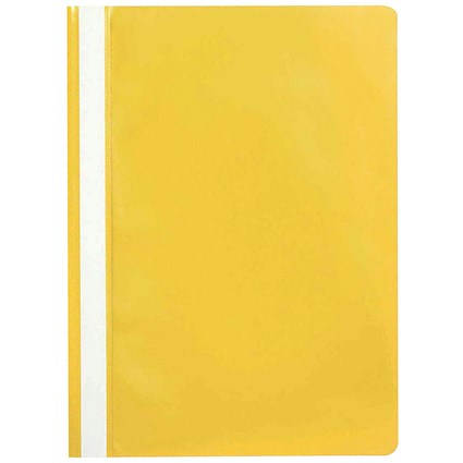 Q-Connect A4 Project Folders, Yellow, Pack of 25