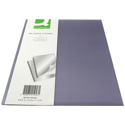 Q-Connect Clear Binding Folder, 150 micron, A4, Pack of 20