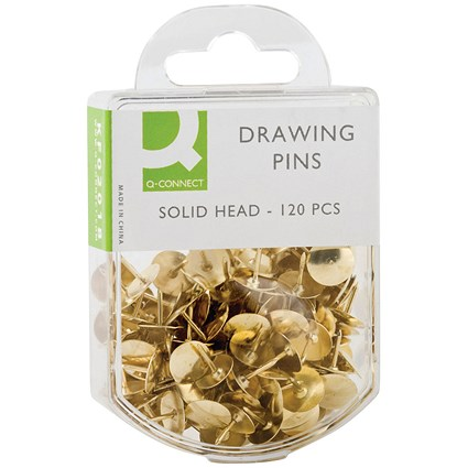 Q-Connect Drawing Pins Brass (Pack of 1200)