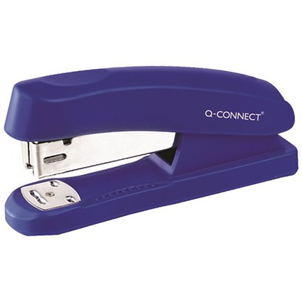Q-Connect Half Strip Plastic Stapler Blue (Capacity: 20 sheets of 80 gsm paper)