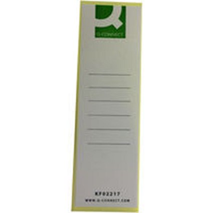 Q-Connect Lever Arch File Spine Label - Pack of 10