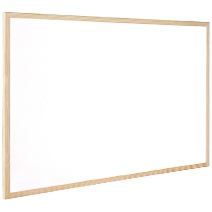 Q-Connect Whiteboard, Wooden Frame, W900xH600mm