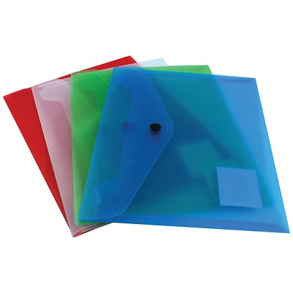 Q-Connect A5 Document Folders, Assorted, Pack of 12