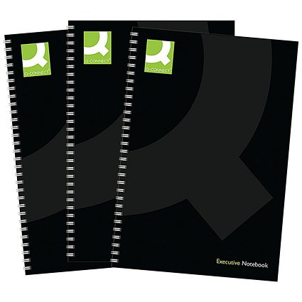 Q-Connect Wirebound Hardback Book, A5, Pack of 3