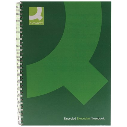 Q-Connect Wirebound Book, A4, Recycled, Pack of 3