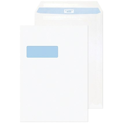 Q-Connect C4 Envelope Window Self Seal 90gsm White (Pack of 75)