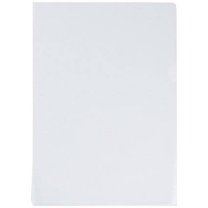Q-Connect Cut Flush Folders, A4, Clear, Pack of 100