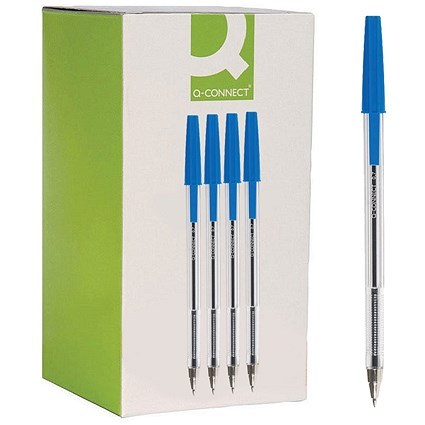 Q-Connect Ballpoint Pen Medium Blue (Pack of 20)