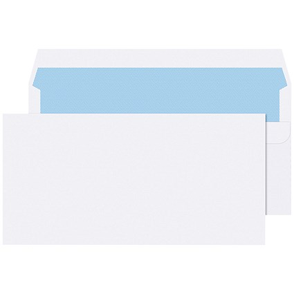 Q-Connect DL Envelopes Self Seal White 90gsm (Pack of 1000)