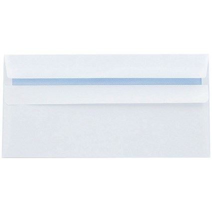 Q-Connect DL Envelopes Recycled Self Seal 100gsm White (Pack of 500)