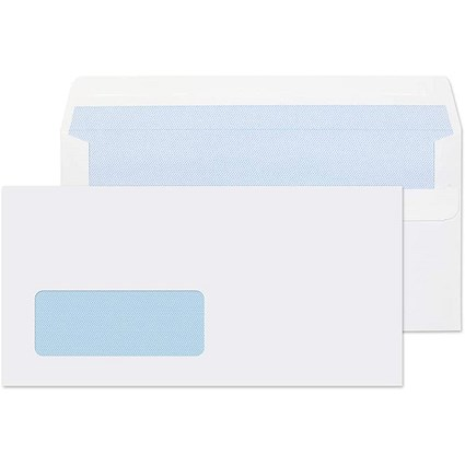 Q-Connect DL Envelopes Window Self Seal White 100gsm (Pack of 1000)