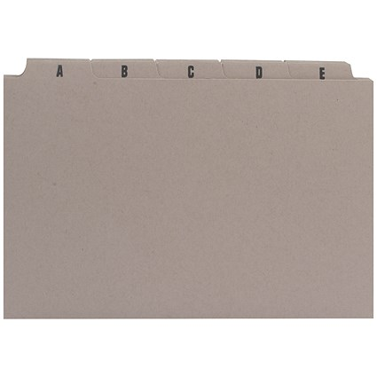 Q-Connect Guide Cards, A-Z, 203x127mm, Buff, Pack of 25