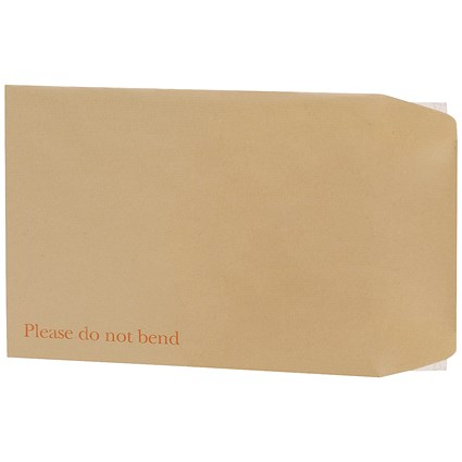 Q-Connect C4 Envelopes Board Back Peel and Seal 115gsm Manilla (Pack of 10) KF3523