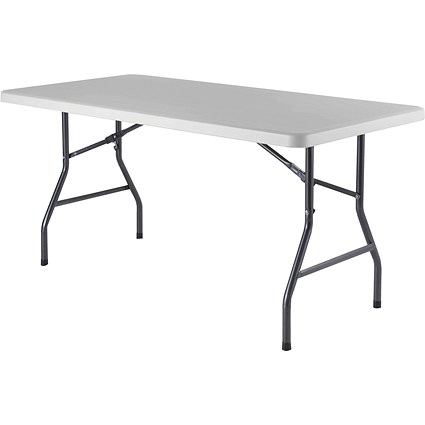 Jemini Rectangular Folding Table, 1520mm Wide, White