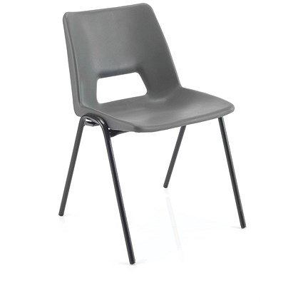 Jemini Classroom Chair, 310mm, 4-6 Years, Charcoal