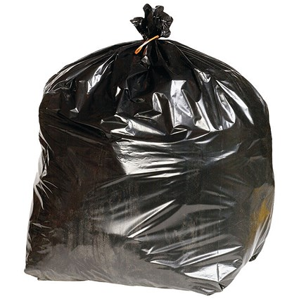 2Work Extra Heavy-Duty Refuse Sack Black (Pack of 200)