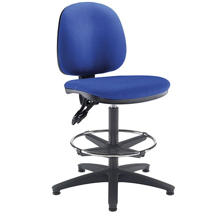 Arista High Rise Chair / Adjustable Footrest / Blue