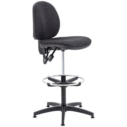 Arista High Rise Chair / Adjustable Footrest / Charcoal