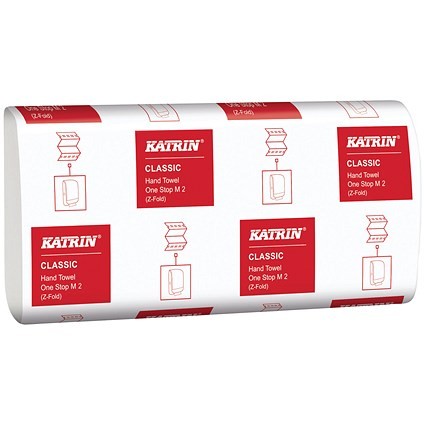 Katrin Classic One Stop Hand Towels 2-Ply White (Pack of 3360) 345287