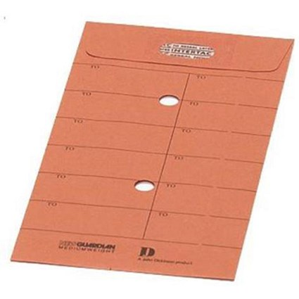 New Guardian Intertac C5 Internal Mail Envelopes, Resealable, Manilla Orange, Pack of 500