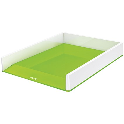 Leitz WOW Letter Tray Dual Colour White/Green