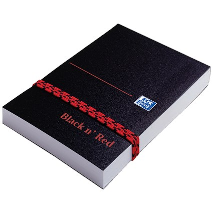 Black n' Red Polynote Casebound Notebook / 105x74mm / 192 Pages / Pack of 10