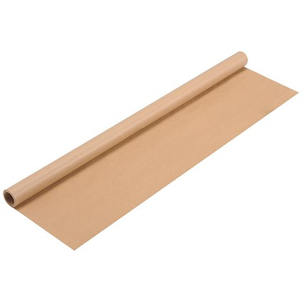 Kraft Wrapping Paper Roll, 70gsm, 750mm x 4m, Brown