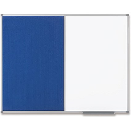 Nobo Classic Combination Board, Felt & Magnetic Drywipe, W1200xH900mm, Blue