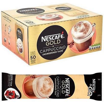 Nescafe Cappuccino Instant Coffee Sachets - Pack of 50