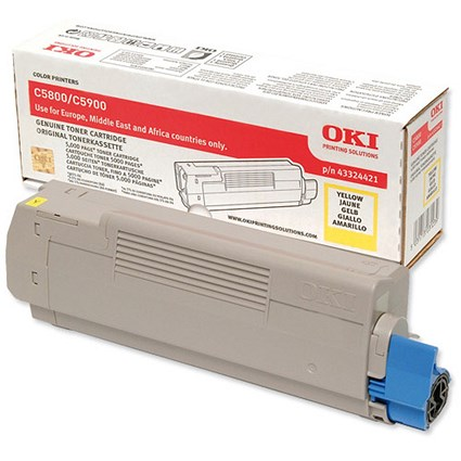 Oki 43324421 Yellow Laser Toner Cartridge
